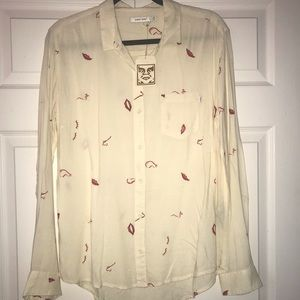 NWT Obey Long Sleeve Button Down